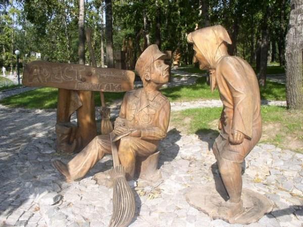 Профессионально изготовленные деревянные скульптуры