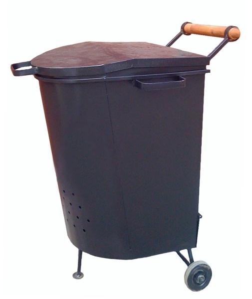 Промышленный контейнер для сжигания мусора на даче