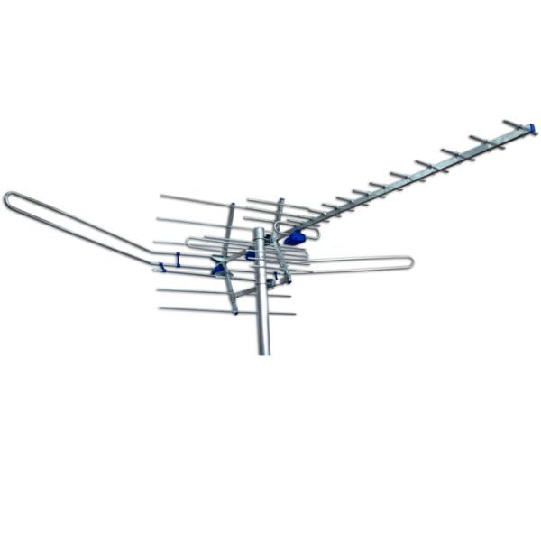 Простейшая антенна заводского изготовления с устройствами приема различных типов диапазона