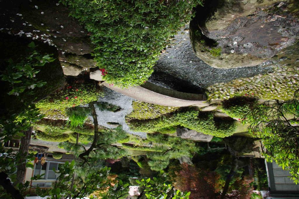 Пруд в китайском стиле, обладающий естественными очертаниями
