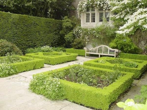 Прямые линии и четкие геометрические фигуры – признак регулярного сада