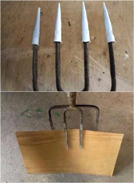 Разгрузчик для картофеля и лопата для снега из обычных садовых вил