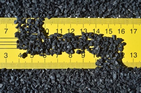 Резиновая плитка изготавливается из измельченной резины
