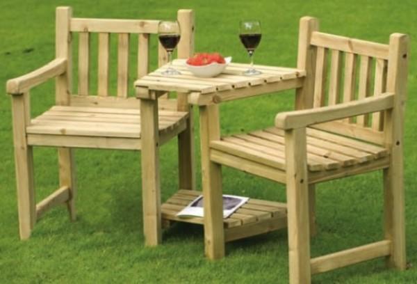 Садовая деревянная мебель своими руками позволяет создать комфортную атмосферу на участке