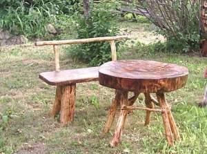 Садовая мебель из дерева