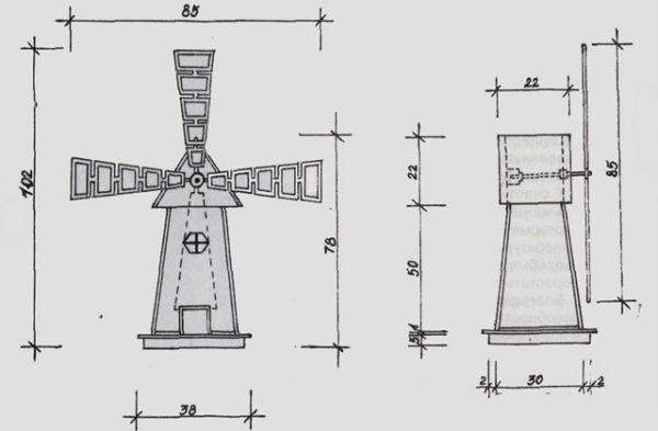 Схема как сделать мельницу для сада своими руками схема пошаговая инструкция 71