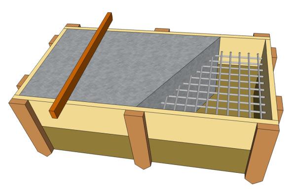 Схема фундаментной плиты.