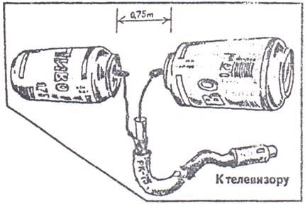 Схема сборки антенны из