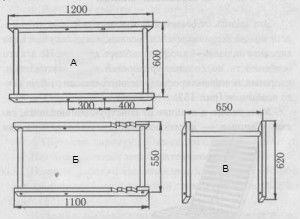 Схема сборки шезлонга