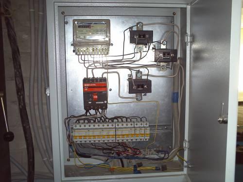 Схема трехфазного электрического щита