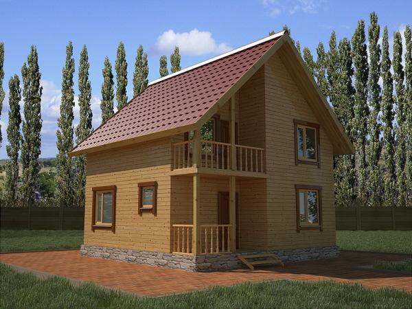 Типовая постройка из высококачественных пиломатериалов