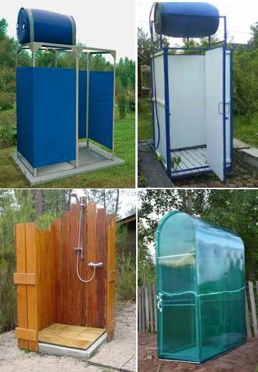 Типы душевых кабинок для дачи