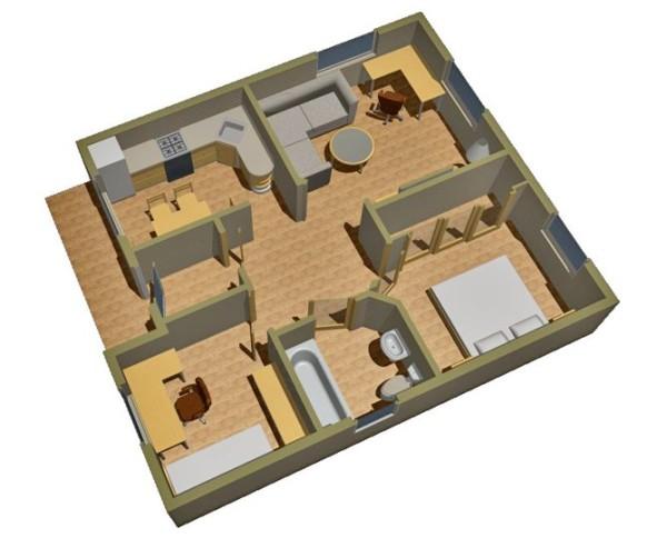 Трехмерная пространственная модель будущего здания.