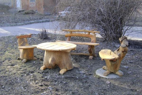 Творческий подход к изготовлению дачной мебели