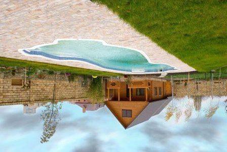 Вокруг бассейна желательно соорудить площадку для удобства