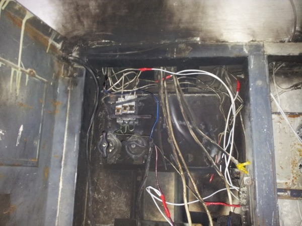 Возгорание в электрощитке