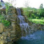 Водопад своими руками на даче фото