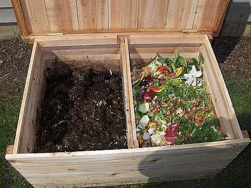 Ящик для компостирования растительных остатков