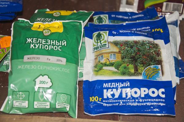Защита растений с помощью железного и медного купороса