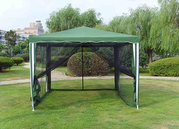 Беседка-палатка должна стойко выдерживать даже сильный ветер