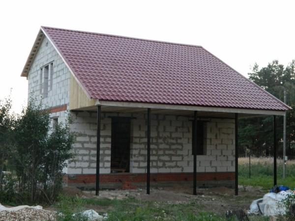 Дачный домик из газосиликатных блоков