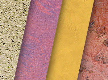 Декоративная штукатурка отличается разнообразием цвета и фактуры