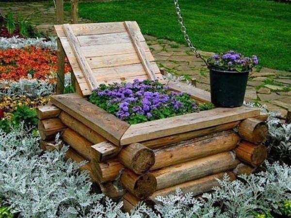 Декоративные колодцы для сада могут быть любой формы, ведь все зависит от вашего желания и фантазии