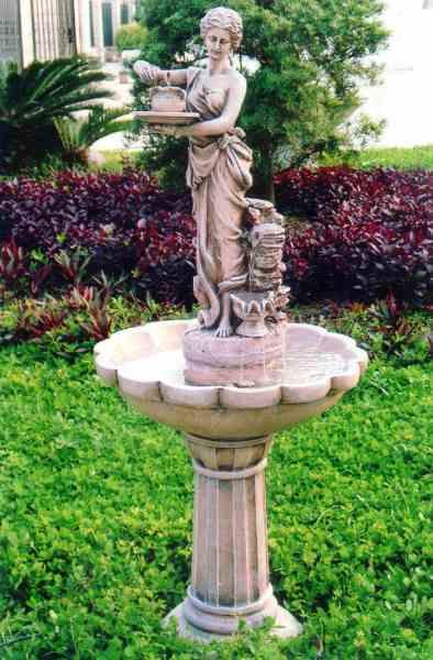 Декорация фонтана из статуи