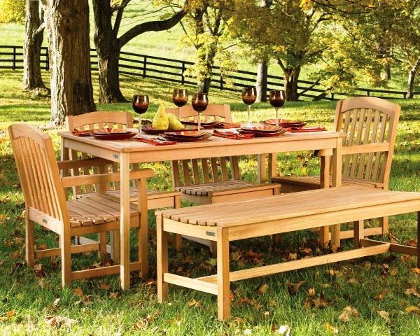 Деревянная мебель для сада и дачи