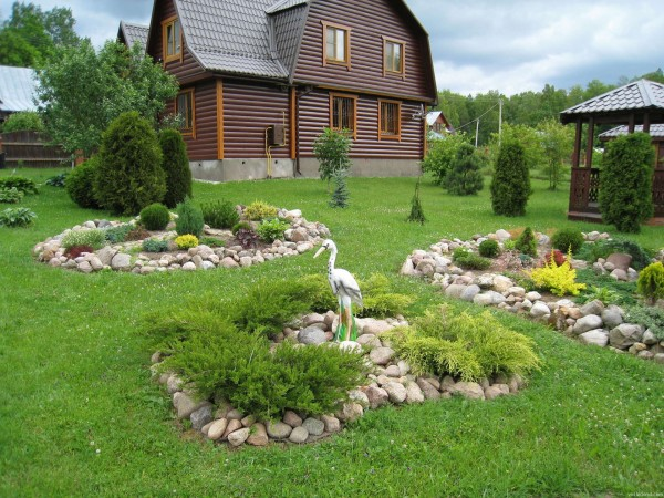 Дизайн садового участка. Фото