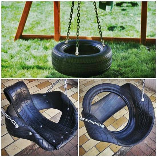 Для изготовления можно использовать и подручные материалы, старые шины от автомобиля могут найти неожиданное применение