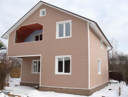 Двухэтажные дачные дома из блок контейнеров
