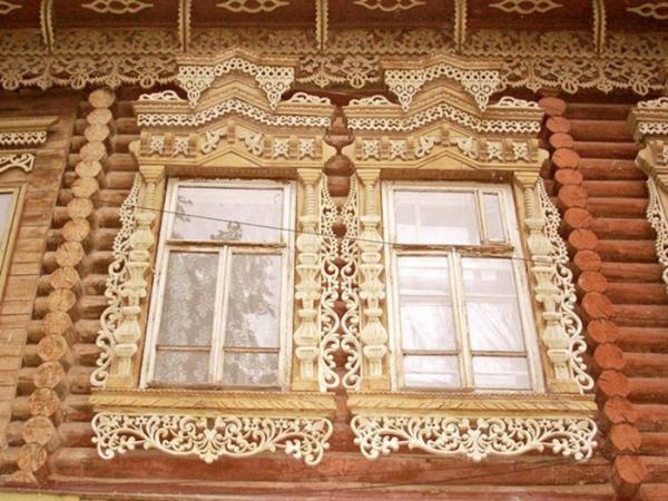 Фасад в деревенском стиле