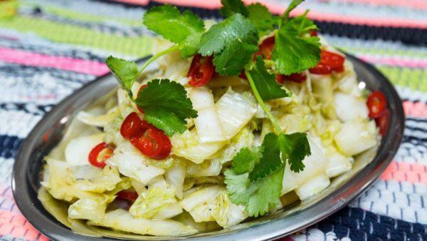 Китайская капуста с соевым соусом