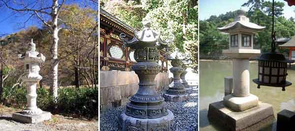 Фонари из искусственного камня идеально впишутся в ландшафт, выполненный в восточном стиле