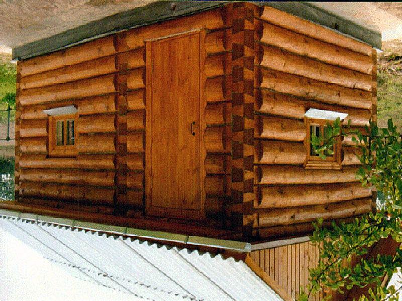 Фото классической деревянной бани