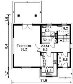 Фундамент делается по плану первого этажа