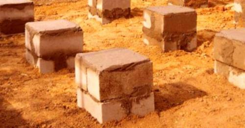 Фундамент из блоков для деревянного домика