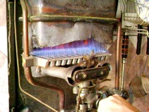 Газовая горелка проточного газового нагревателя