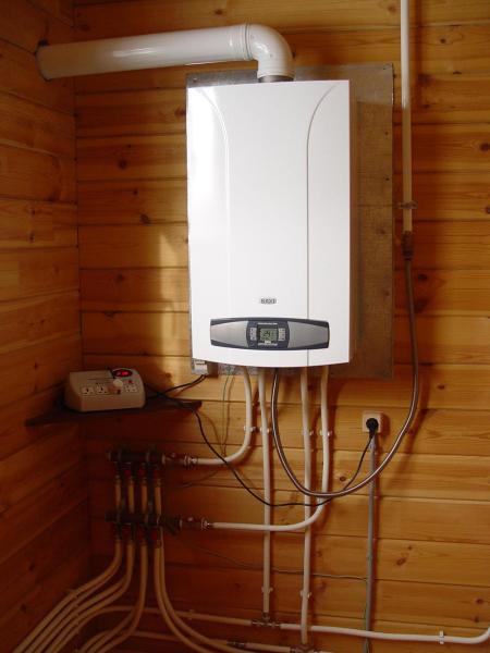 Газовый котел для отопления дачи (двухконтурный)