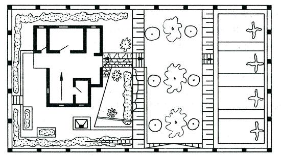 Готовый план дачного участка