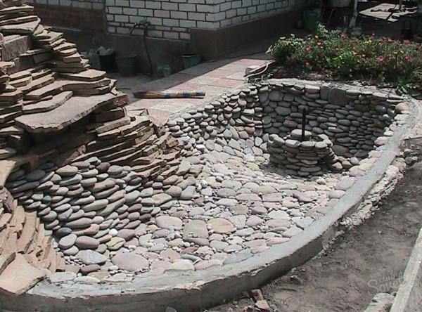 Инструкция позволяет оставлять камни насыпью или закреплять их бетонным раствором
