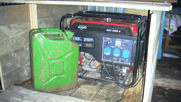 Использовать генератор для обогрева электричеством - не лучшая идея.