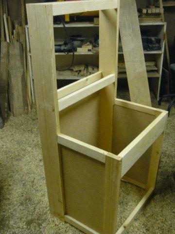 Изготавливаем каркас для тумбы рукомойника
