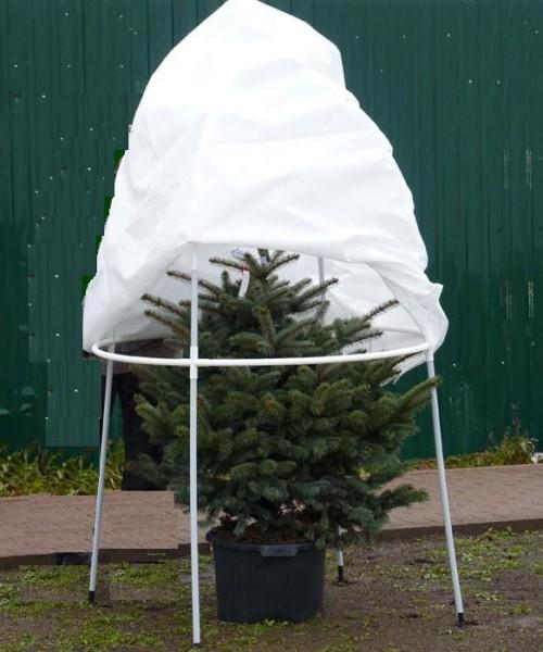 Каркасное зимнее укрытие для тропических растений высотой до 1,8 м.