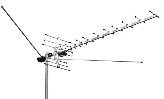 Конструктивно сложная кустарно изготовленная МВ+ДМВ телевизионная антенна