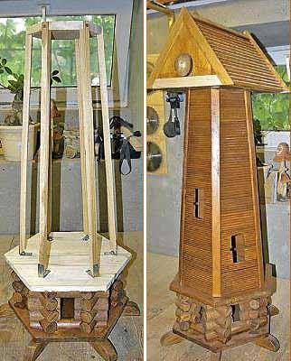 Лакированные бамбуковые обои наклеены на каркас из бруска.