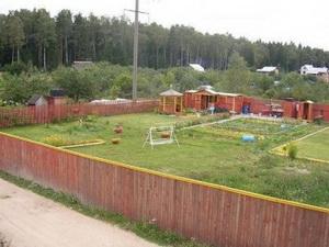 Любительское фото планирования по размещению различных типов дачных построек на участке земли