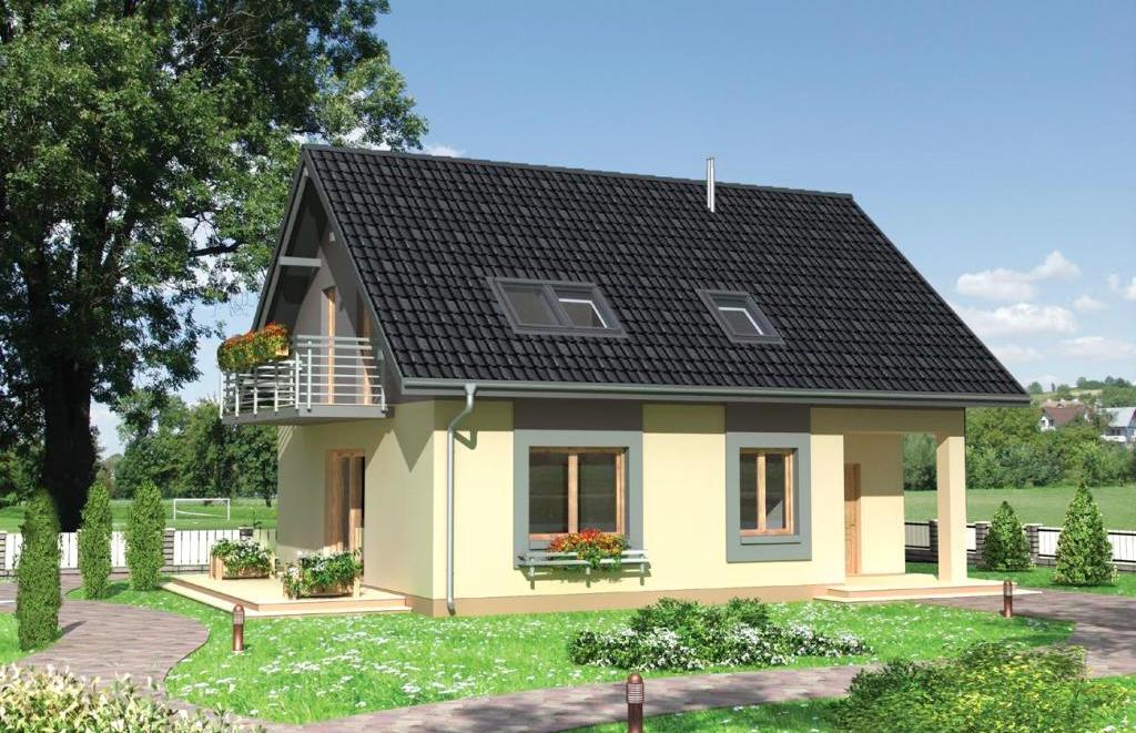 проекты небольших домов из пеноблоков