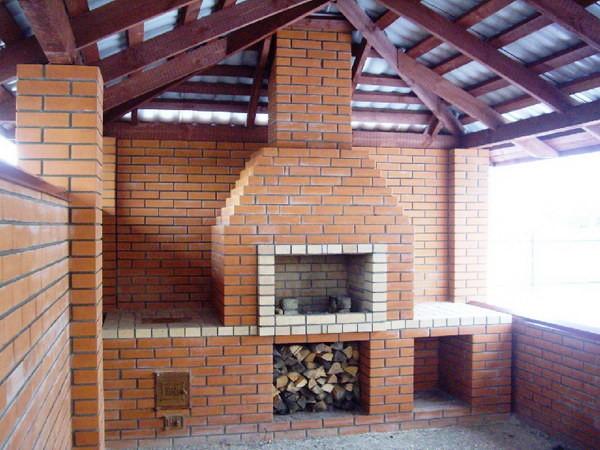 Мангал из кирпича – украшение загородного участка